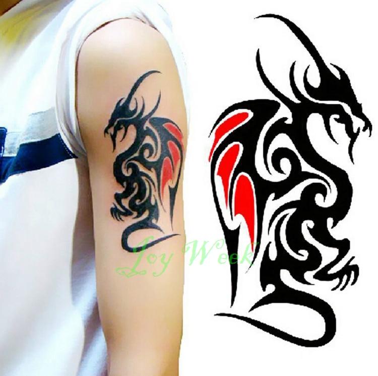 Waterproof Temporary Tattoo Sticker Of Body Cool Men Dragon Totem Tatto Stickers Flash Tatoo Fake Tattoos Tattoo Sticker Tatto Stickerwaterproof Temporary Tattoo Sticker Aliexpress