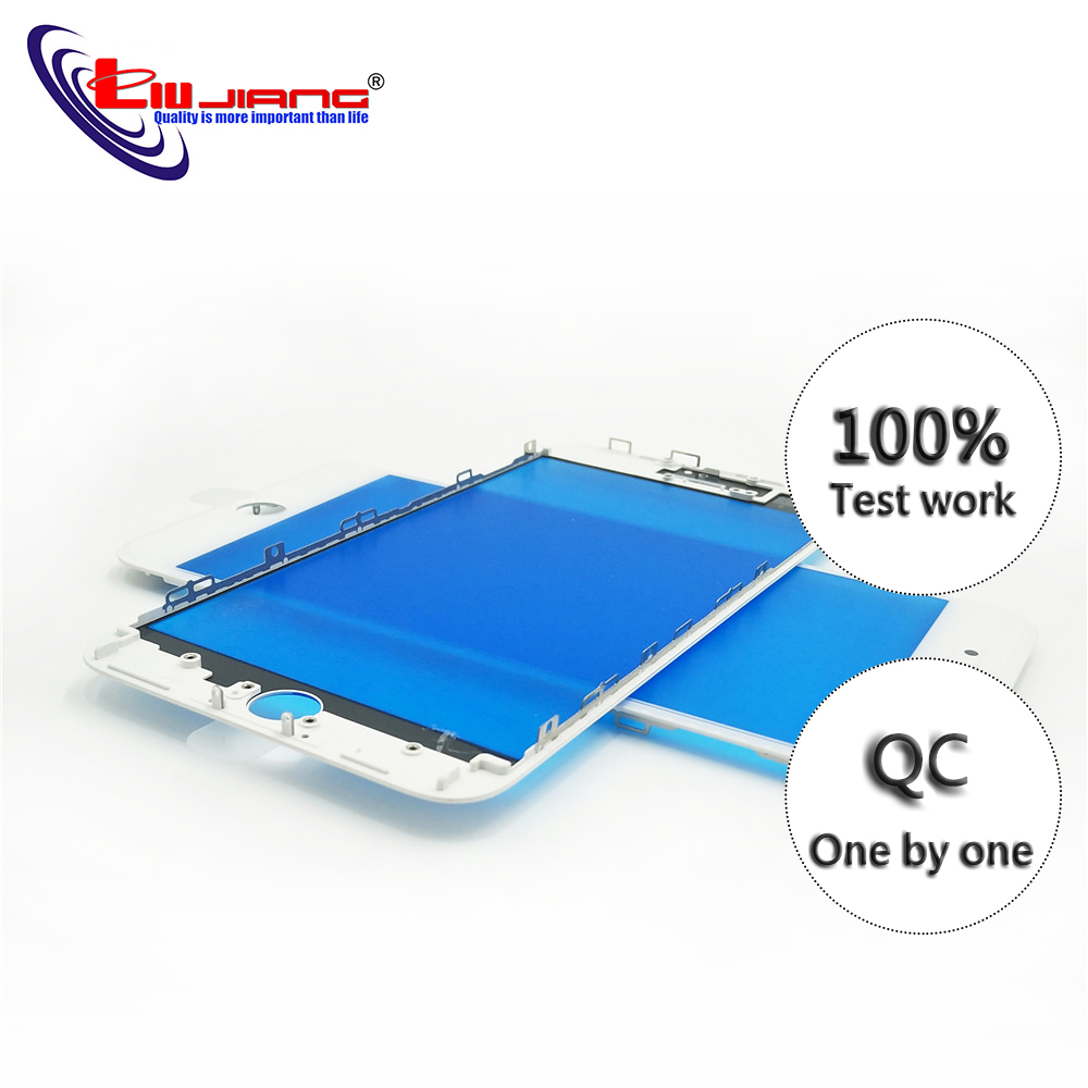 100% AAA New Touch Panel Replacement For IPhone 7 7G 8 Plus 8Plus Front Outer Screen Glass Lens With Frame Bezel Repair Parts