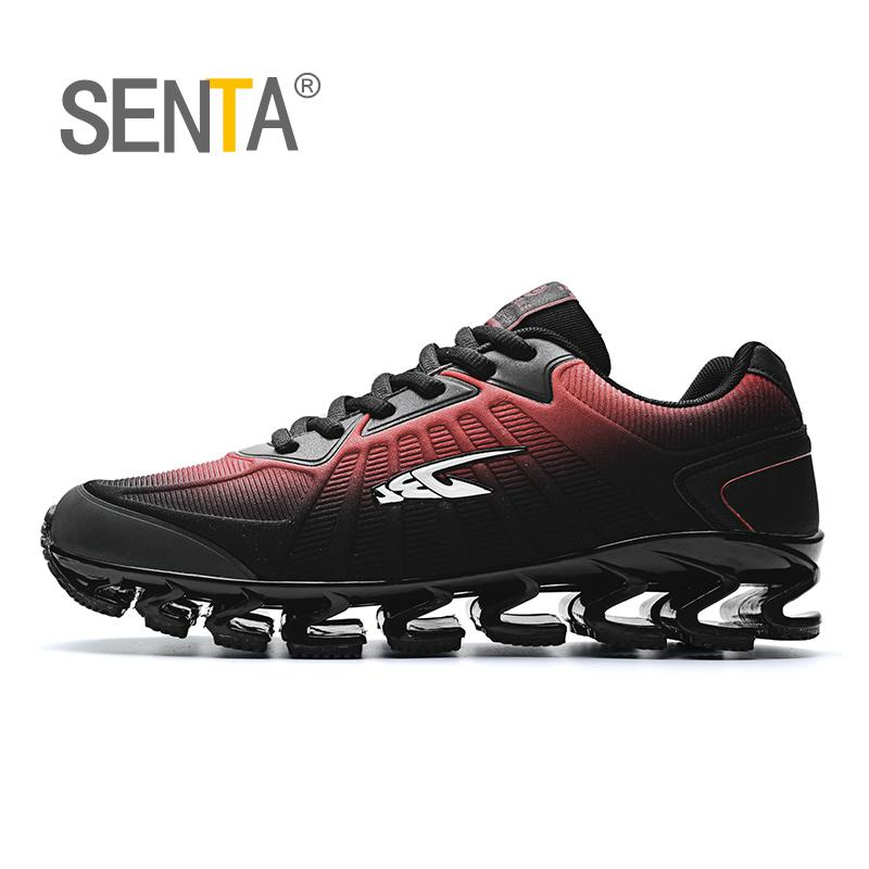 SENTA New Blade Running Shoes man Korean Cool Spring Shoes Non-slip Light Shock Absorber Breathable Sports Shoes Zapatos BALCK 2017 new rax spring and summer trace shoes men interference water breathable non slip hiking shoes mesh shock absorber insoles