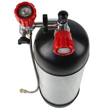 A Valve + Filling Station with Hose+A 6.8L Carbon Fiber Cylinder PCP Airsoft Paintball Refill