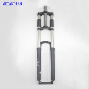 DH Downhill Bike Stroke Suspension Fork Disc Brake Aluminum Alloy 26/27.5 inch Down Hill Suspension Bicycle Fork(China)