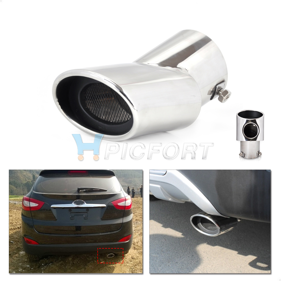 Exhaust Pipes & Tips For Chevrolet Cruze 2010-2014 Stainless Exhaust Mufflers Pipe Tip End Tailpipe