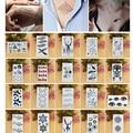 20 Pçs/lote Homens Sexy Mulheres Tattoo Falso Gato Penas de Aves Flash Arte Do Corpo À Prova D' Água Adesivos Tatuagem Temporária Luva Dedo Tatuagem