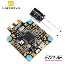 New Arrival Matek System F722-SE F7 Dual Gryo Flight Controller AIO Built-in OSD BEC Current Sensor Black For RC Racing Drone
