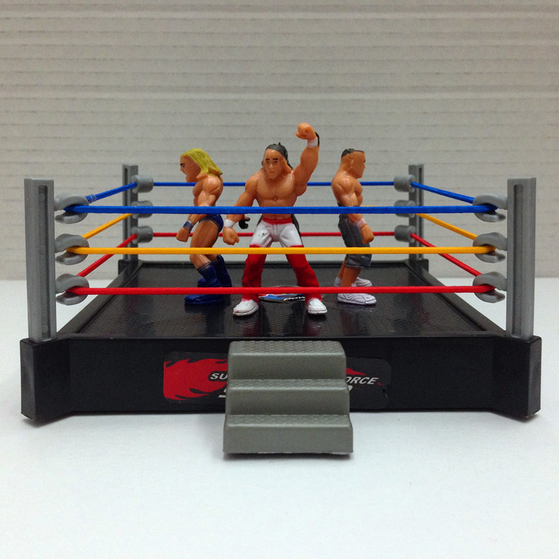 High Quality Classic Wrestling Gym Sport Club Model The Wrestler Athlete Figure Building Wrestler Arena Model SET Boy Toy gift