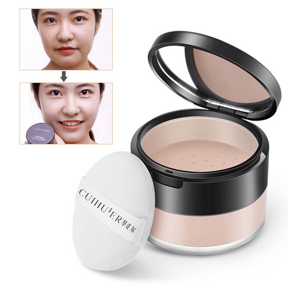 Natural Face Powder Mineral Foundation Makeup Powder Loose Powder Face Makeup Waterproof Skin Finish Powder Oil-control Cosmetic image