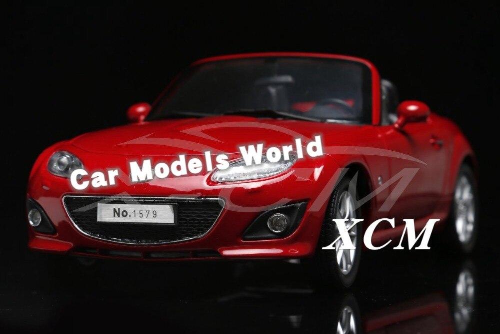 ¡Modelo de coche fundido para MX5 MX 5 1:18 (rojo) + pequeño regalo!-in Troquelado y vehículos de juguete from Juguetes y pasatiempos    1