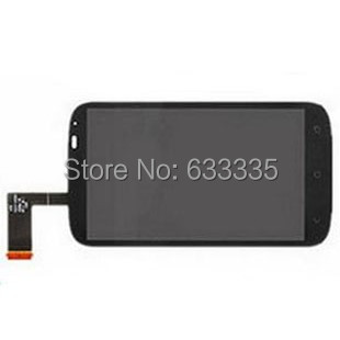 LCD Display Touch Screen Digitizer Assembly For HTC Desire x T328E front outer glass lens black