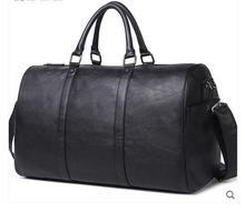 Fashion PU Leather Men's Travel Bag Luggage & Travel Bag Men Carry On Leather Duffel Bag Weekend Bag Big Tote Handbag black