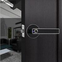 Fechamento da impressão digital inteligente semicondutor eletrônico biométrico de impressão digital fechadura da porta de segurança para o interior decoração de casa|Fechaduras| |  -