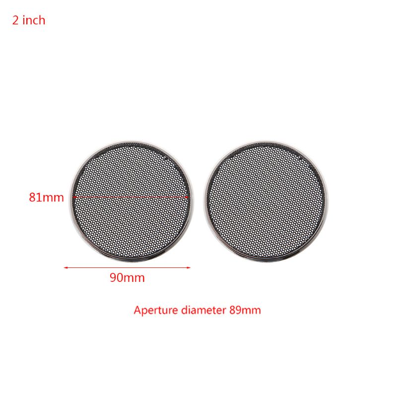 New High Quality 2 Pcs 1/2/3/4/5/6.5 Inch Speaker Steel Mesh Round Grill Protective Cover Circle