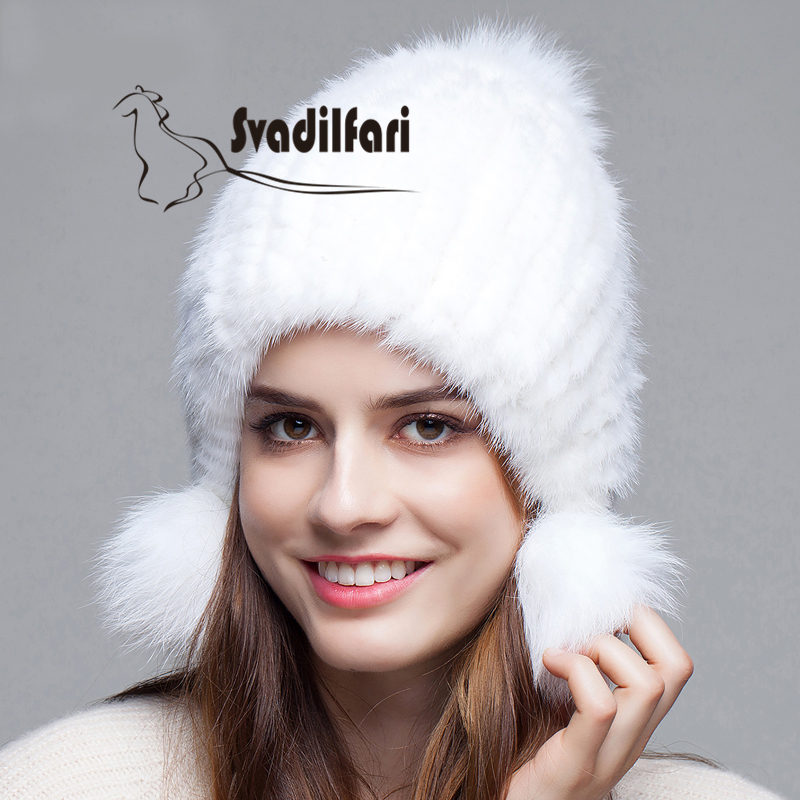 Mink Hat Lady Korean winter leather fur hats fur earmuffs woven hats winter thickening new post woven lable of men and women cold hat money lady knitting hat qiu dong the day han2 ban3 warm pointed