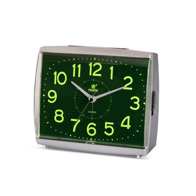 Power Ultra Quiet Digital Alarm Clock Quartz Snooze Stopwatch