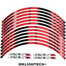 цена на For SUZUKI GSXR General purpose motorcycle wheel decals Reflective stickers rim stripes