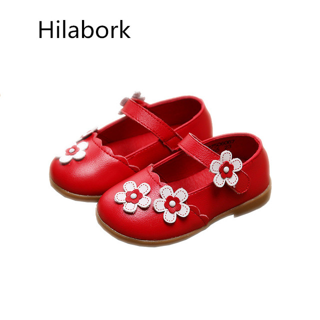 Cute pink baby shoes leather flowers children casual shoes girls princess leather shoes infants HOOk & LOOP baby girl shoes
