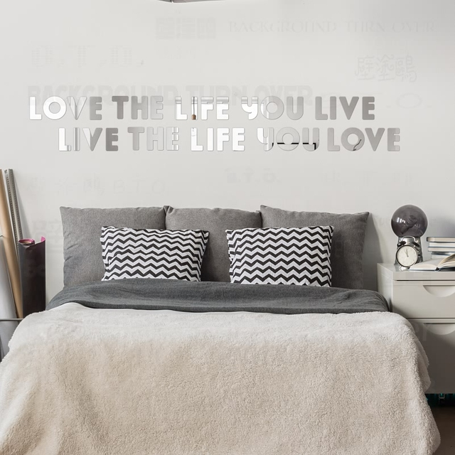 bob marley inspirational quotes decoratieve acryl spiegel muurstickers letters woonkamer slaapkamer decor decoratie thuis r005