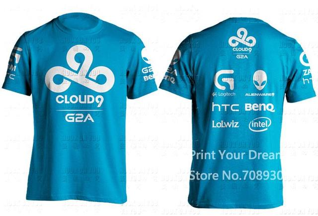 Summer Style T Shirt Men Lol Dota2 C9 Men T Shirt Cloud9 Tees Game
