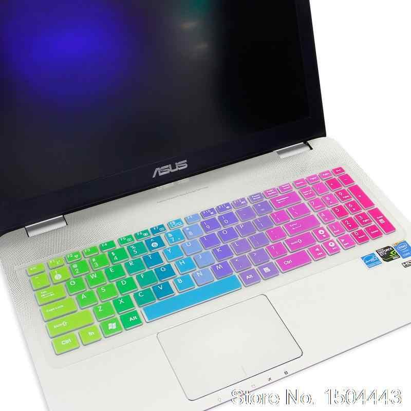 ل 15.6 ''آسوس N56u N56VM N56VZ N56VN56 N56J N56JR n56vb N56VJ 15 بوصة محمول لوحة المفاتيح سيليكون لوحة المفاتيح واقية غطاء