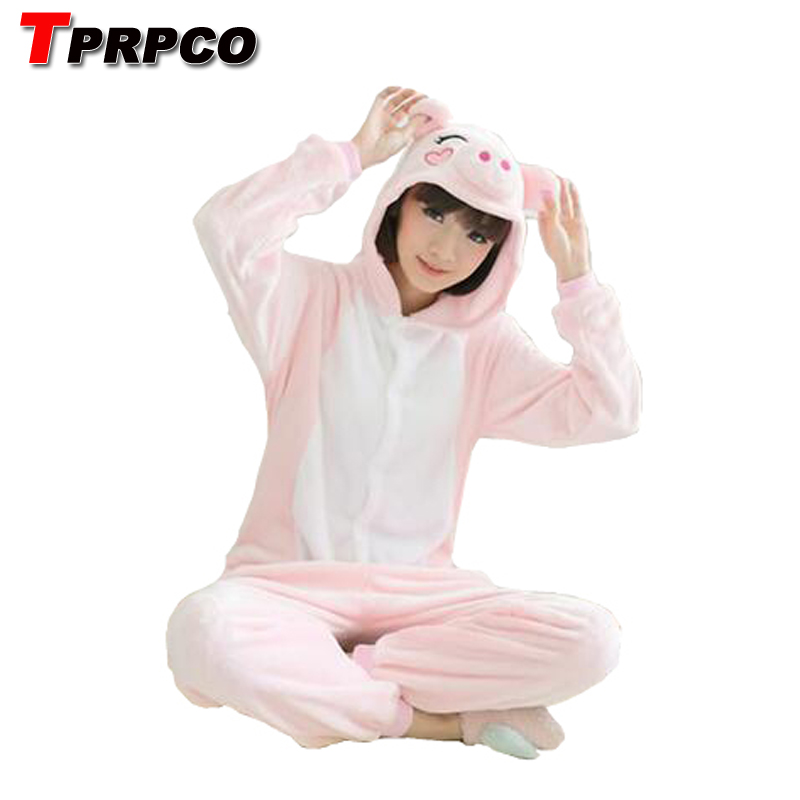 TPRPCO Adult Unisex Adult Pajamas Adult Animal Pyjama Sets pink pig Cartoon Onesies Cosplay Costume Sleepwear NL1550
