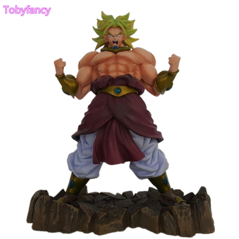Dragon Ball Z Broli Broly Figure Legendary Super Saiyan Son Goku 25CM PVC Action Figure Model Toys Figurine new hot pvc action figure zero ex dragon ball gt super saiyan 4 son goku model doll decoration collection figurine toys for gift