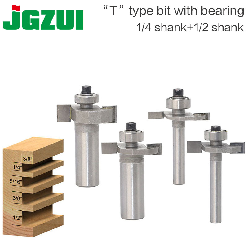1/4 1/2Shank High Quality T Type Biscuit Joint Slot Cutter Jointing/Slotting Router Bit Cutter wood working cute biscuit cookie diy cutter moulds set 4 piece pack