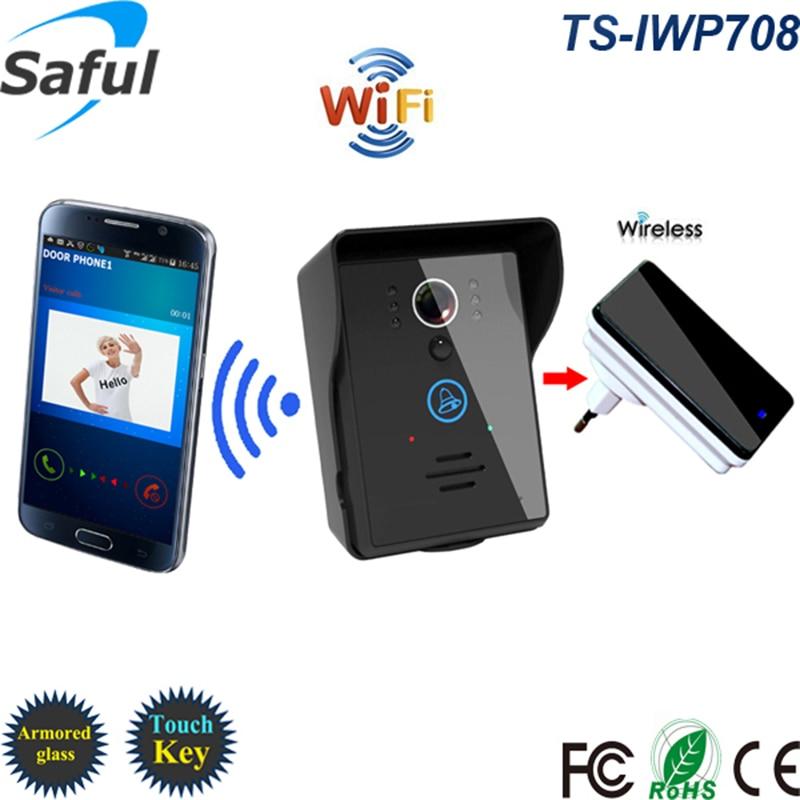 купить Saful Wifi IP Video Door Phone With Interior Doorbell Night Vision Detection Intercom System Support Android & Ios APP по цене 6230.03 рублей