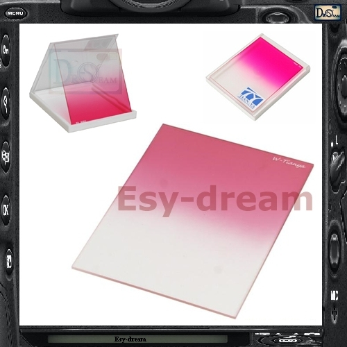 Better TIANYA Square Graduated Gradual Pink Mauve Color Filter for Cokin P series PA339
