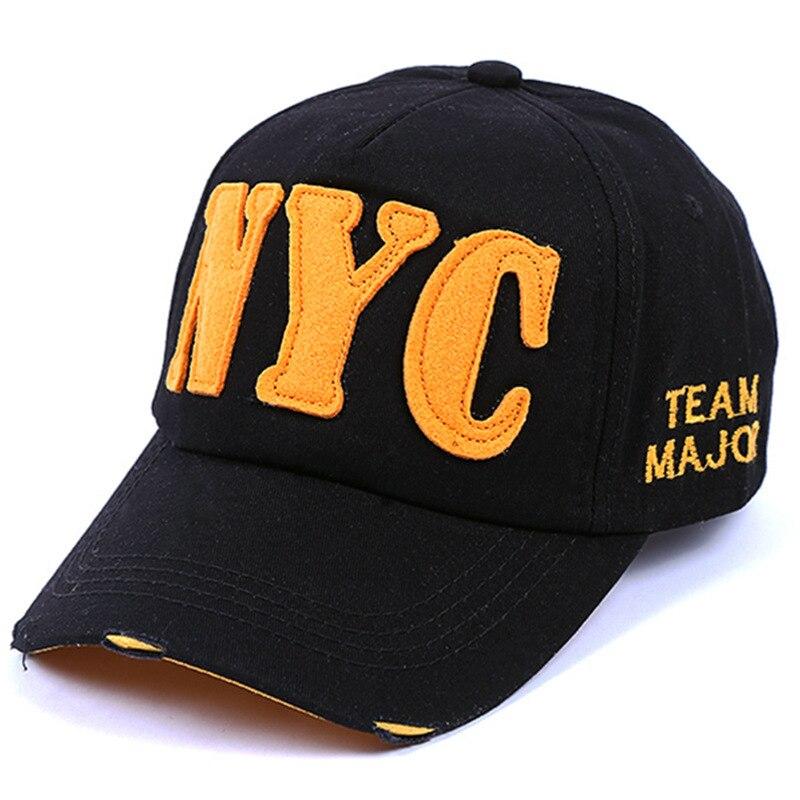 Prix pour Mode Nouveau Modèle coton Marée NYC Lettre casquette de baseball Loisirs Temps chapeau Casquette à visière Mâle Homme femmes Les Amateurs de Soleil NY marque chapeaux