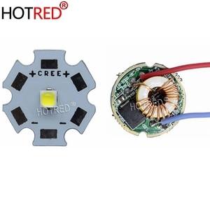 Светодиодный излучатель CREE 10 Вт XPL XP-L V5 V6, белый, нейтральный, белый, теплый белый диодный чип, 20 мм, алюминиевая печатная плата + вход, 12 В, 22 мм, светодиодный драйвер