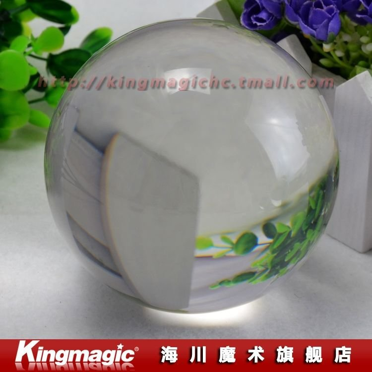 100 MM Clear Crystal Ball / licht crystal ball / contact jongleren / met goede pakket / magic props / Nieuwe collectie / Gratis verzending
