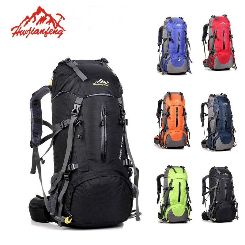 Sac à dos de randonnée imperméable 50L, sac de sport pour femmes hommes, sac d'escalade de Camping en plein air, sac à dos d'alpinisme