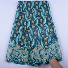 2019 Latest Swiss Lace Fabric Dress African French Voile Lace In Switzerland High Quality Nigerian Dry Cotton Lace Fabric A1584