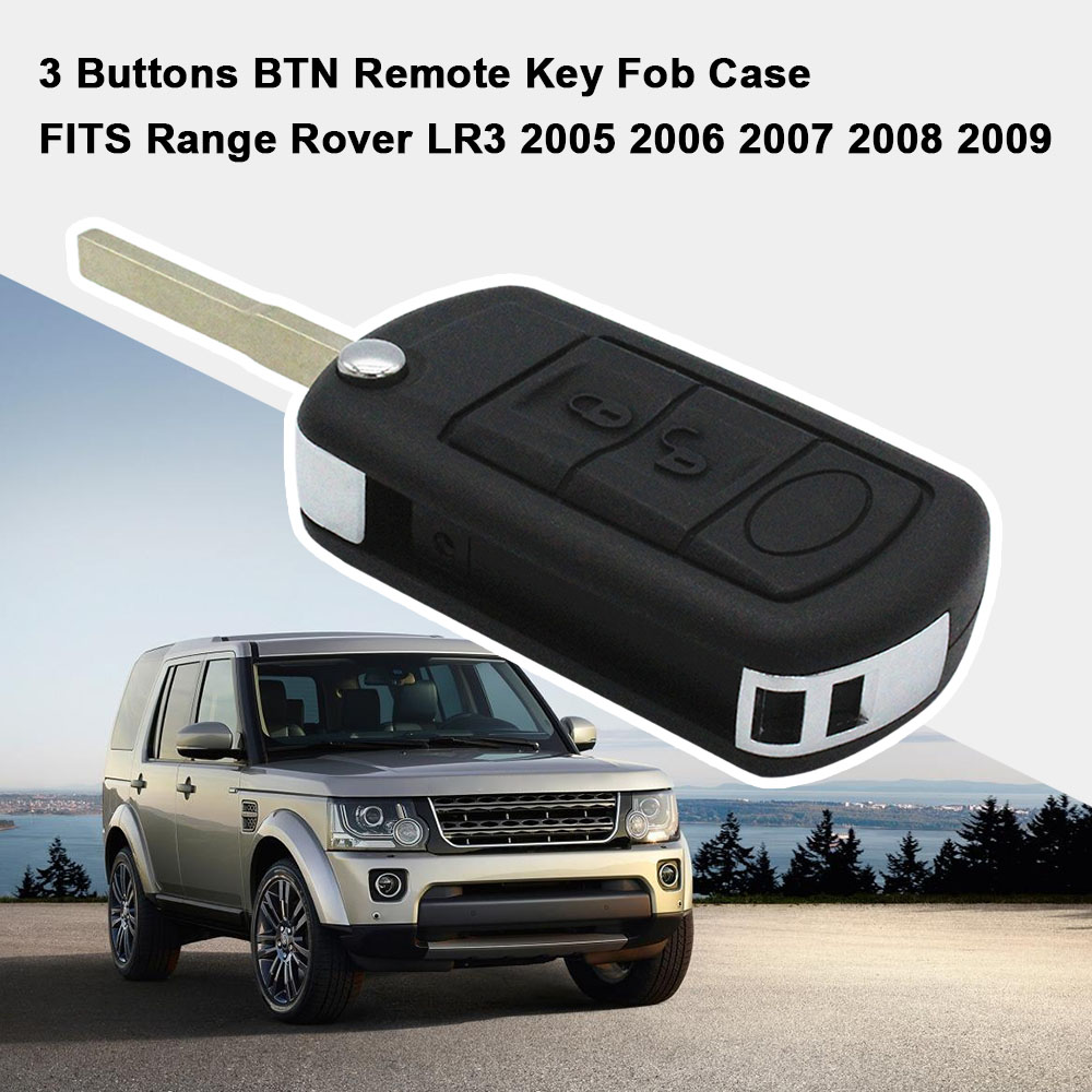 3 Buttons BTN Remote Key Fob Case Fit For Range Rover LR3
