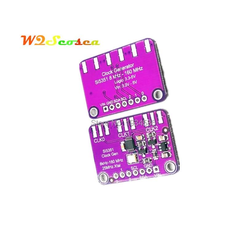 Плата прецизионного прерывания генератора часов Si5351A, 25 МГц, Кристальный контроллер, генератор сигналов Si5351 8 кгц-160 МГц для Arduino MCU