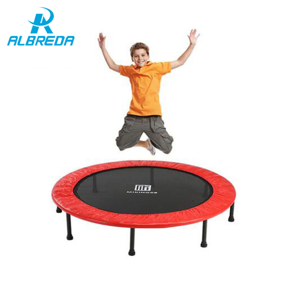 ALBREDA New arrival 48inch Diameter folding Big Trampolines Spring bounce bed Euro fitness Equipments Jumping Sport trampoline 6 4 4m bounce house combo pool and slide used commercial bounce houses for sale