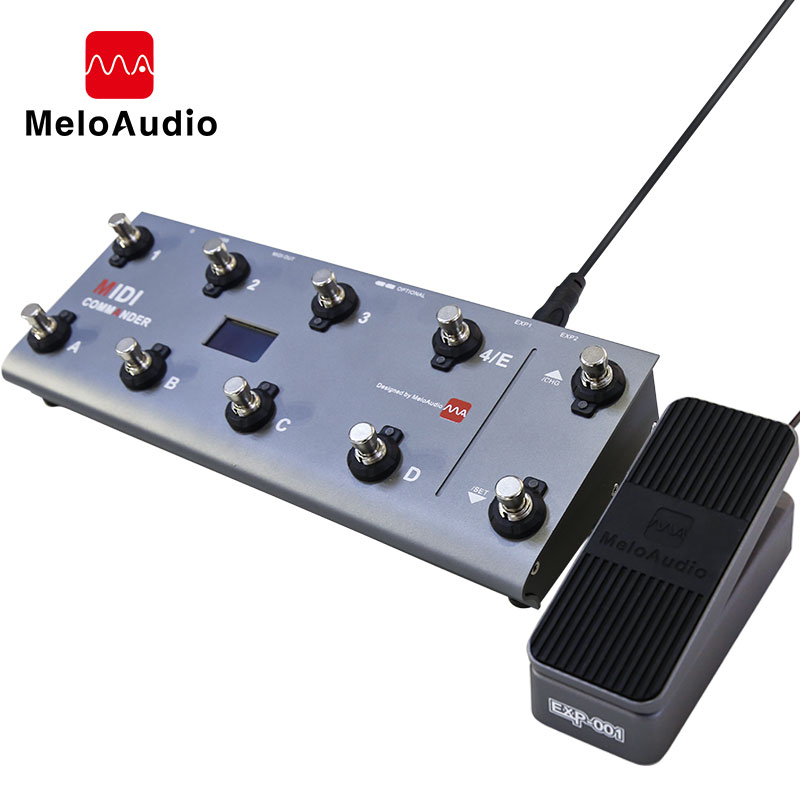 MIDI Commander Guitar Portable USB MIDI Foot Controller With 10 Foot Switches 2 Expression Pedal Jacks 8 Host Presets For Live