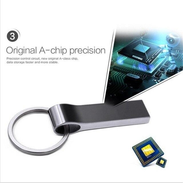 Key Mini USB flash Drive 128GB 64GB 32GB 16GB 8GB Metal Pen Drive Pendrive 128 64 32 16 8 GB USB Flash Memory Cle USB Stick 2