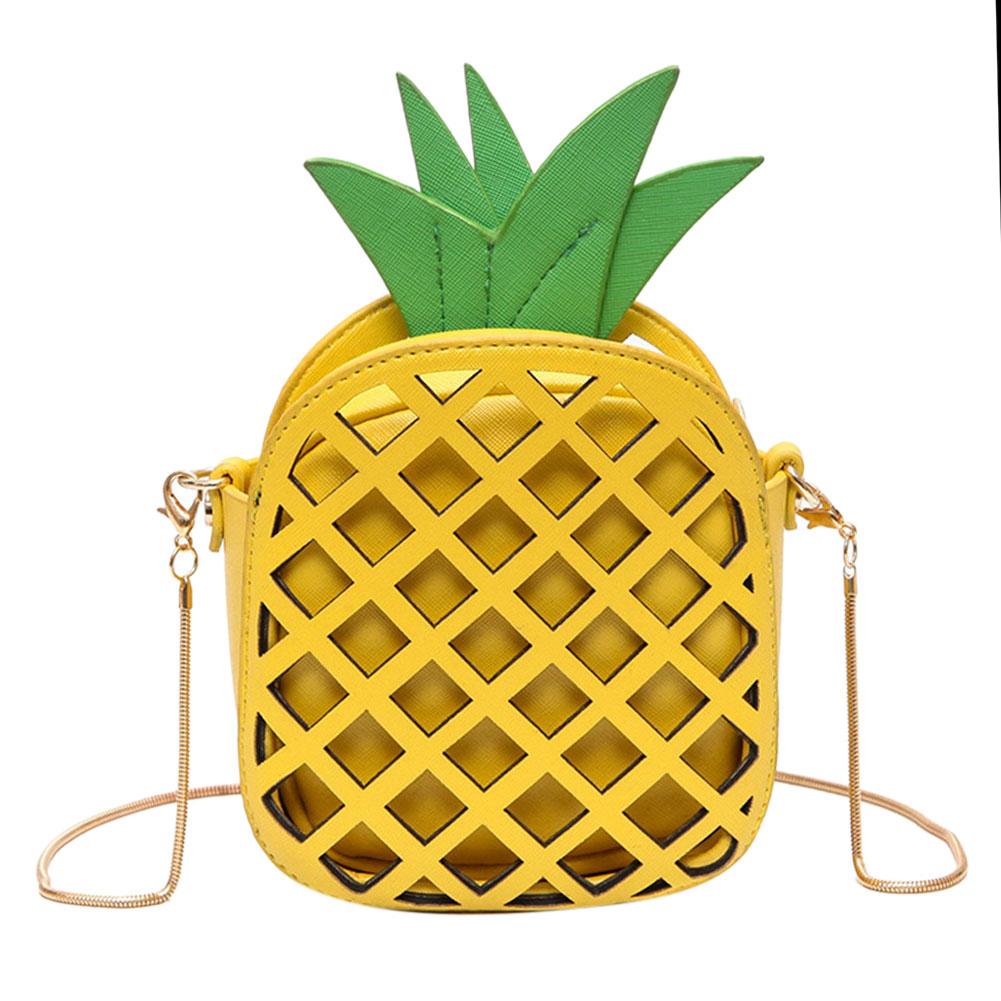 Puikus Mini ananasų moterų rankinės PU odos vaisių formos rankinės Hit spalvos grandinės peties kryžminio maišelio moterims Messenger krepšiai