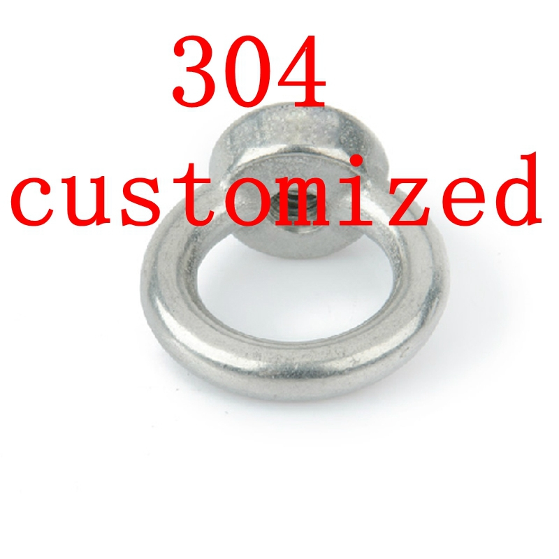 Customized Authentic 304 Stainless Steel Lifting Ring Nut,SS 304 Eye Nut цена