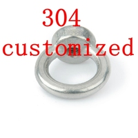 Customized Authentic 304 Stainless Steel Lifting Ring Nut,SS 304 Eye Nut