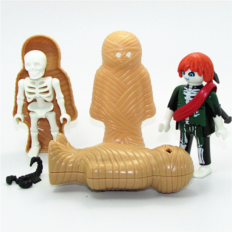Playmobil Action Figure Toy Single Sale Playmobil Original Zombie Skull Mummy Figures Model Dolls Kids Gifts Toys For Children