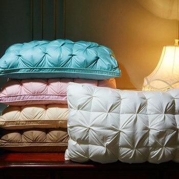 1 pieza Almohada alternativa rectangular abajo para dormir blanco suave almohadas de...
