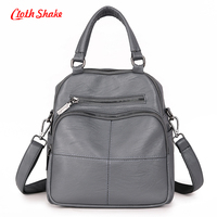 Cloth Shake Brand Summer New Fashion Soft PU Microfiber Synthetic Leather Women Handbag Messenger Shoulder Bags