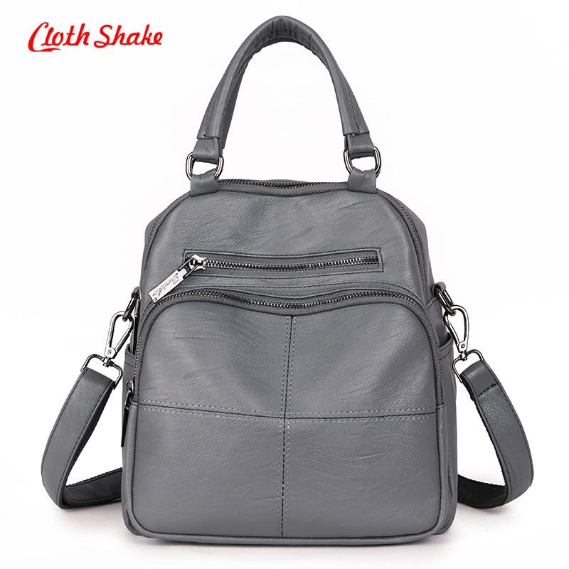 Cloth Shake Brand Summer New Fashion Soft PU Microfiber Synthetic Leather Women Handbag Messenger Shoulder Bags Solid Daily Bag