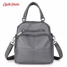 Cloth Shake Brand Summer New Fashion Soft PU Microfiber Synthetic Leather Women Handbag Messenger Shoulder Bags