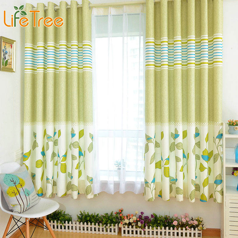 printed kids short curtain for bedroom living room bay window drapes custom made 8 colors