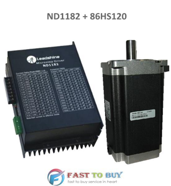 2-phase Stepper Drive and Motor ND1182 + 86HS120 12N.m New rc2604h stepper motor drive 578 586