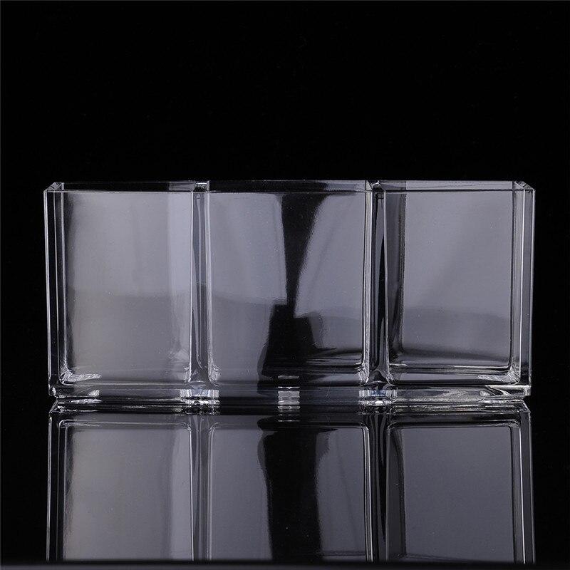 Kristal Akrilik Kozmetik Organizatör Makyaj Fırça Tutucu Kozmetik - Evdeki Organizasyon ve Depolama - Fotoğraf 3