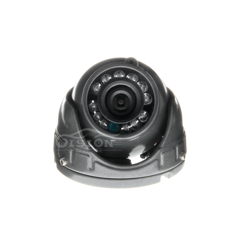 Gray Mini 12V Indoor Camera Metal Dom 1.3MP AHD Vehicle Car Inside Camera With 4 Pin Aviation 3.6MM Lens For Taxi Bus Truck