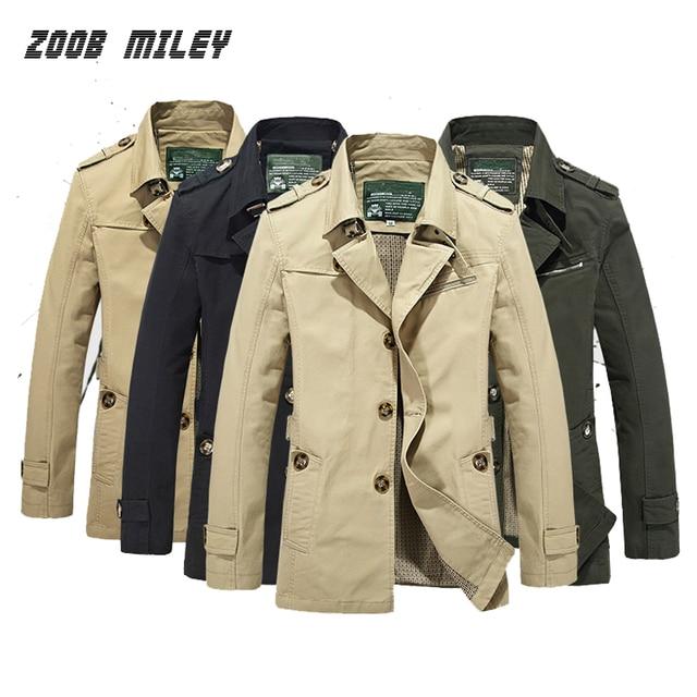Fashion Men Business Jacket and Coat Big SIze M-4XL 5XL Causal Trench Coat Men Windbreaker Jacket Outerwear